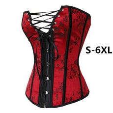 corset top, floralcorset, Plus Size, redcorset