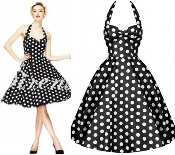 Wish | Vintage Retro Halter 50s Swing Polka Dot Party Pinup ...