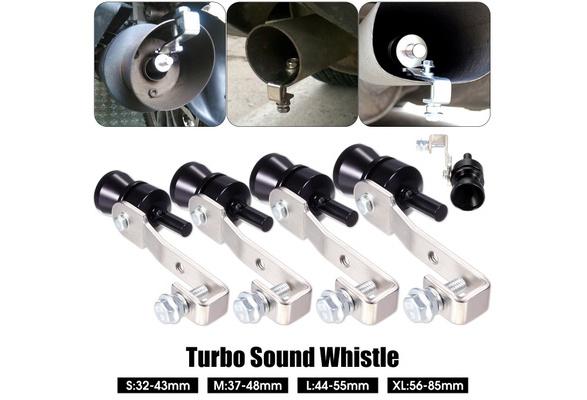 S M L XL Black Exhaust Fake Turbo Whistle Pipe Sound Muffler Blow Off Valve  Bov