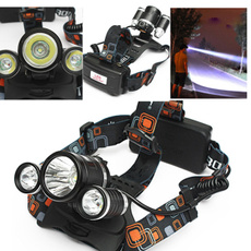 8000LM 3x XM-L T6 LED Headlight Water Resistant Headlamp Cycling Front Light 4 Modes Torch Lamp for Camping Hiking Cycling
