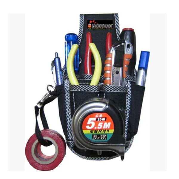 Picture of Black 9 In1 Electrician Waist Pocket Tool Belt Pouch Bag Screwdriver Utility Kit Holder