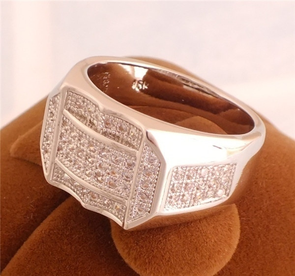 Picture of Jewelry 1pc 925 Sterling Silver Cubic Zirconia Cz Cool Unisex Finger Ring