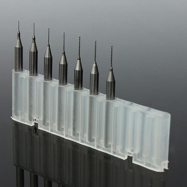 Picture of Set Of 7pcs 0.2mm To 0.5mm Drill Bits For 3d Printer Nozzle Cleaning Kit Reprap