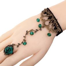 infinity bracelet, Crystal Bracelet, Lolita fashion, Lace