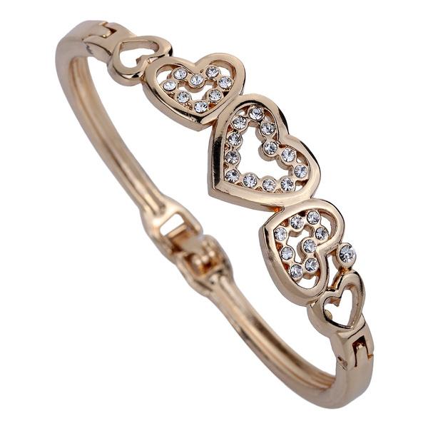 Crystal Bracelet, Jewelry, gold, Heart