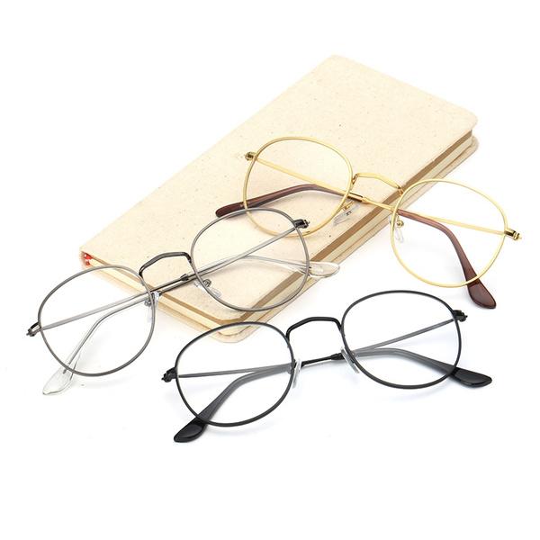 Picture of Fashion Designer Metal Frame Girls Round Glasses Clear Lens Nerd Geek Eyewear