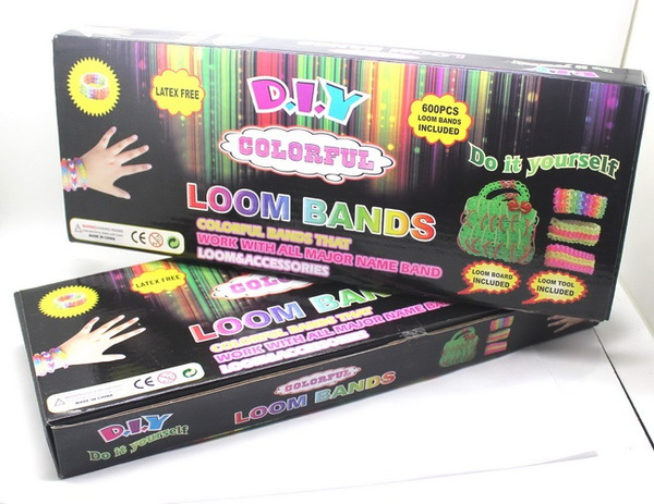 Wish   1200pcs Bands/set Toy Gift Loom Bands Kits Fun Loom Rubber