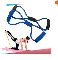 random color 1pc Resistance Training Bands Tube Workout Exercise for Yoga 8 Type Fashion Body Building Fitness Equipment Tool