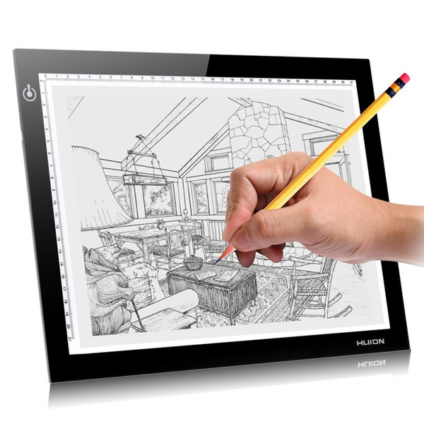 Picture of Hot Sellingnewet Huion L4s A4 Graphic Drawing Tablets Led Drawing Tablet Light Pad Trackpad Painting Plates Tablet Usb Digital Drawing Tablet Size 210mm By 310mm Color Black