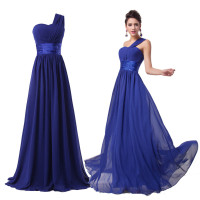 Grace Karin 2015 One Shoulder Sexy Long Formal Wedding Bridesmaid Evening Party Gowns Dress