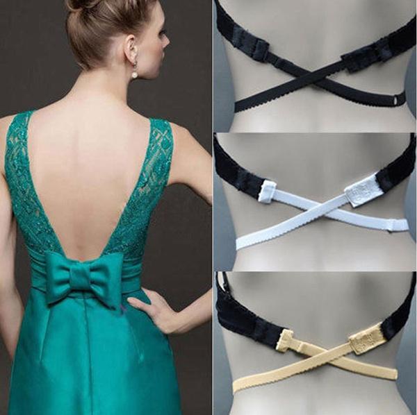 Low Back Backless Bra Strap Adapter Converter Extender Hook Adjustable For Dress
