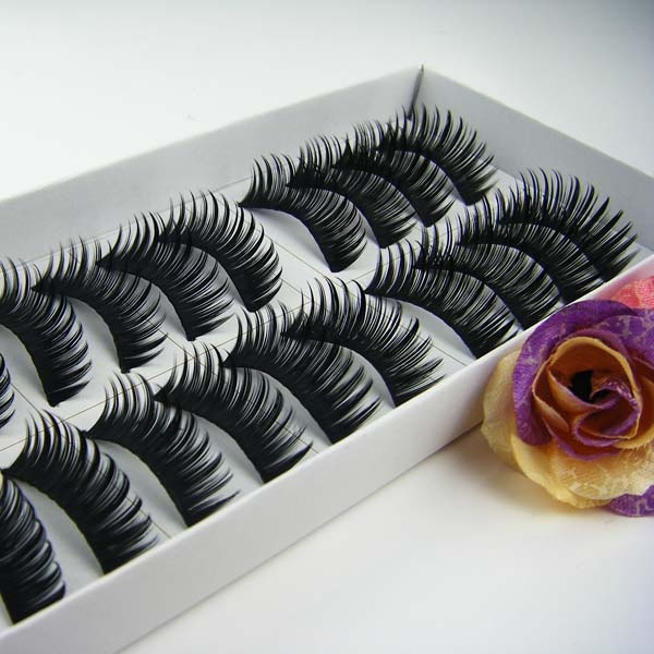 Picture of 10 Pairs Thick Long False Eyelashes For Women Mgsu Coltd