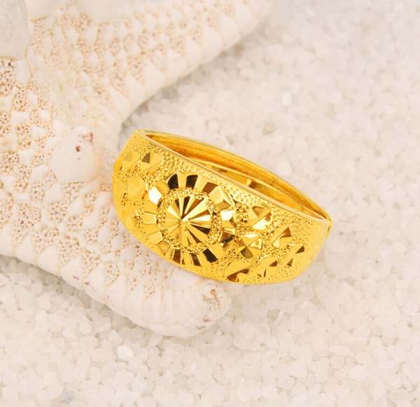 Jewelry Hot New Fashion Top Quality Luxury Design 24k Gold Plated Fast Colours Of The Ring Rings For Women And Men Wish
