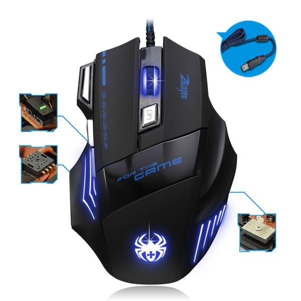 Picture of 5500 Dpi 7 Button Led Optical Usb Wired Gaming Mouse Mice For Pro Gamer