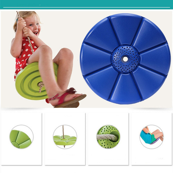 Wish Swing Set Play Disc Swing Seat Tree Swing Disk Blue Garden