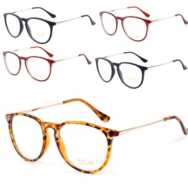 Picture of Vintage Round Clear Lens Frame Metal Legs Unisex Plain Glasses Eyeglasses Lady Eyewear