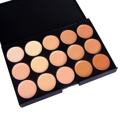 Picture of 15 Colors Professional Makeup Camouflage Facial Concealer Neutral Palette Cream