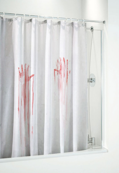 Charming Wish | Blood Bath Shower Curtain Blood Splatter Shower Curtain Bloody  Shower Curtain (Size: 180cm By 180cm, Color: Multicolor)