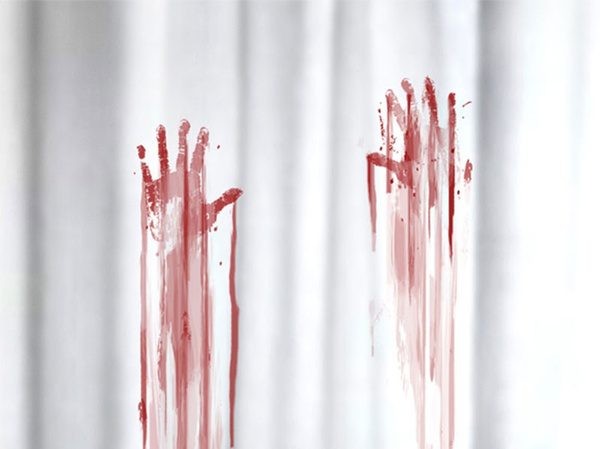 Lovely Wish | Blood Bath Shower Curtain Blood Splatter Shower Curtain ...