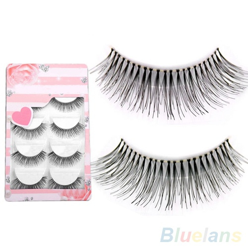 Picture of 5 Pairs Women's Fashion Cosmetic Tool Sparse Cross Eye Lashes Extension Makeup Long False Eyelashes Size One Size Color Black
