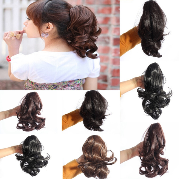 Wish vogue lady hairpiece short wavy curly claw hair ponytail wish vogue lady hairpiece short wavy curly claw hair ponytail clip on hair extensions pmusecretfo Image collections