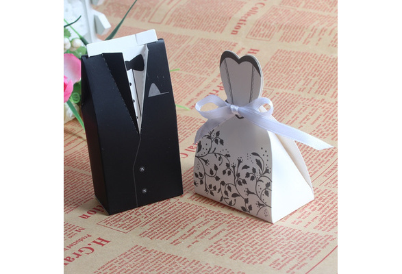 20/50/100pcs Bride and Groom box Wedding Favor Boxes Gift box Candy box