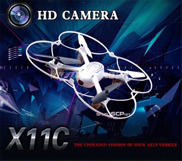 Picture of Rc Drone With Hd Camera Syma X11c Helicopter Quadcopter 2.4g 6 Axis Gyro Rtf With 2.0mp Camera 2g Mini Sd Card
