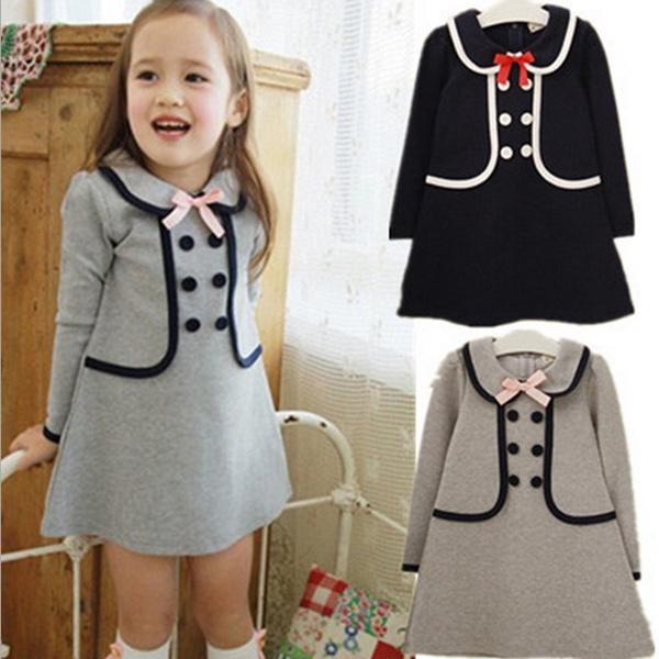 03fe9c8e6 Moda para bebés, niñas, niños, primavera y otoño, vestido de manga larga,  suéter largo, sudaderas con capucha, ropa para niños
