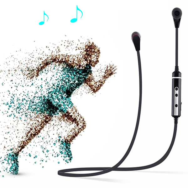 Picture of X7 Wireless Bluetooth 4.0 Sport Stereo Subwoofer In-ear Headphones Earphones Earbud Headphone Headset With Microphone Handsfree Calling For Mobile Phone Tablet Laptop Black