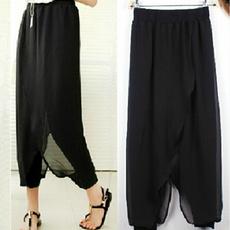 Plus Size Women Ladies Chiffon Herem Pants  Yoga Casual  Baggy Summer Trousers