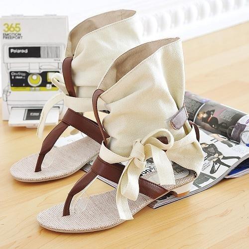 Picture of New Summer Sandals Low Heel Flat Women Sandals Shoes Open Toe Women Wedges Sandals