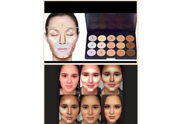 Picture of 15 Colors Women Beauty Professional Contour Face Makeup Cream Concealer Palette