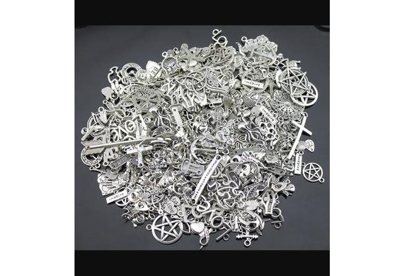 Weight for 100g Random Mix Styles Antique Silver, Antique Bronze Zinc Alloy Charms Pendant