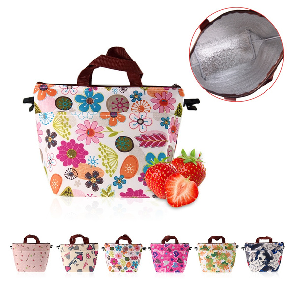 Picture of Portable Thermal Lunch Carry Tote Handbag Insulated Cooler Picnic Shopping Bag