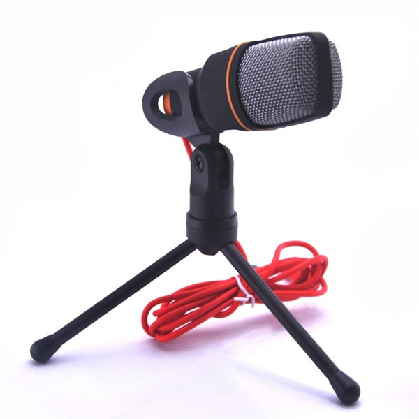 Picture of New Condenser Microphone Professional Condenser Sound Podcast Studio Microfone For Pc Laptop Skype Msn Karaoke Color Black