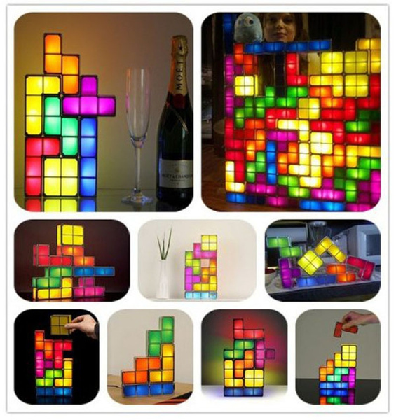 Picture of Newness Tetris Lights Constructible Desk Lamp Three-dimensional Puzzle Squares Toy Lighting Bar Kitchen Decoration