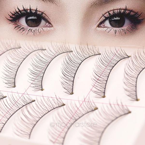 Picture of 10 Pairs Women Makeup Black Natural Thick False Eyelash Lashes False Beauty Hot