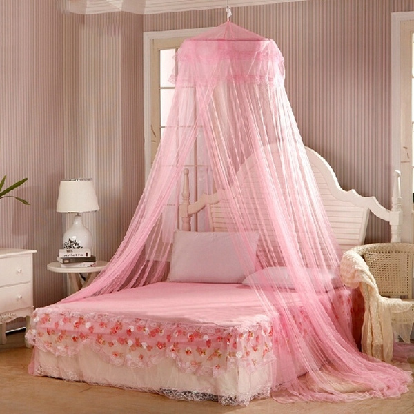 Outdoor Elegant Round Lace Insect Bed Canopy Netting Curtain Dome Mosquito Net 34 Bedding