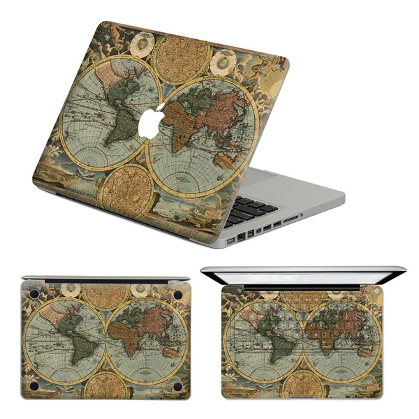 Wish world map vintage pattern removable sticker vinyl decal for wish world map vintage pattern removable sticker vinyl decal for macbook airpro 13 gumiabroncs Choice Image
