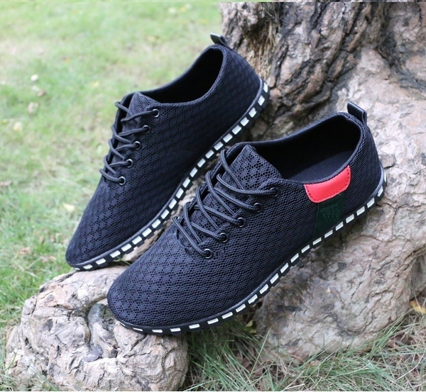 Picture of Men's Casual Shoes Lace-up Simple Breathable Shoes Mesh Sneakers