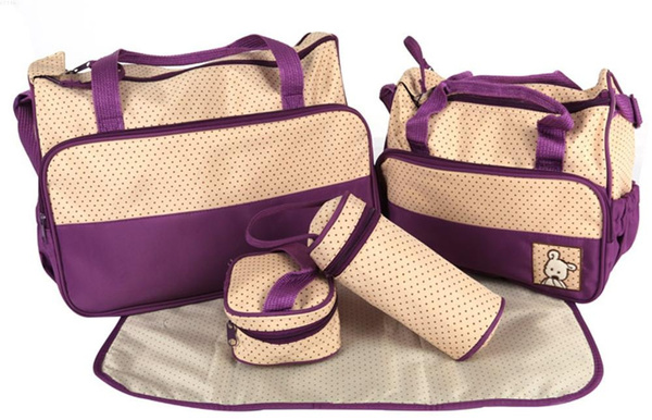 Wish Fashion Mummy Bag For Baby Ny Bags Sleeping 8 Colors Boy 5pcs Set