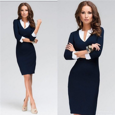 work dress, Moda, colorsplicing, Office