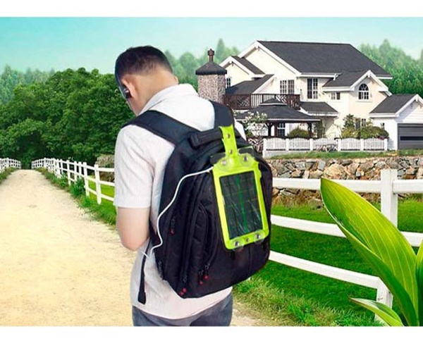 Picture of Solar Bag Power Battery Mobile Power Bank For Cell Phones Gps Mp4 Camera Tablet