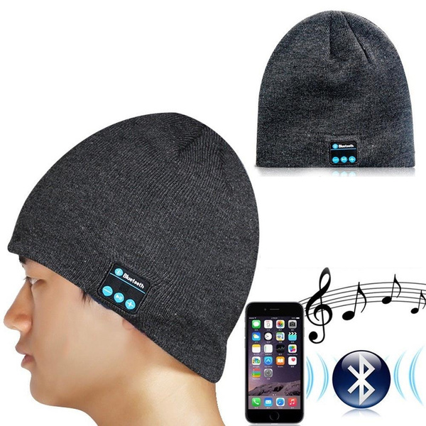 Warm Beanie Hat Wireless Bluetooth Smart Cap Headphone Headset Speaker Mic SP