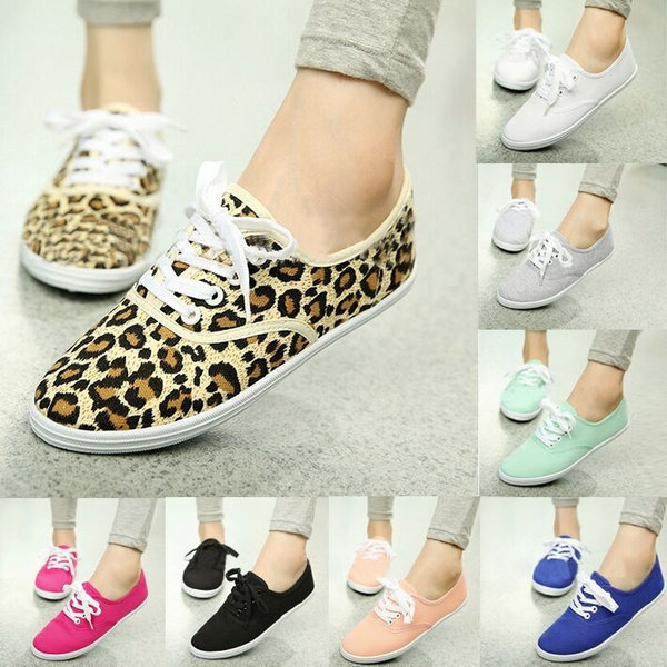 Picture of Women Shoes Fashion Sneakers Candy Color Flat Lazy Canvas Casual Shoes Sneakers