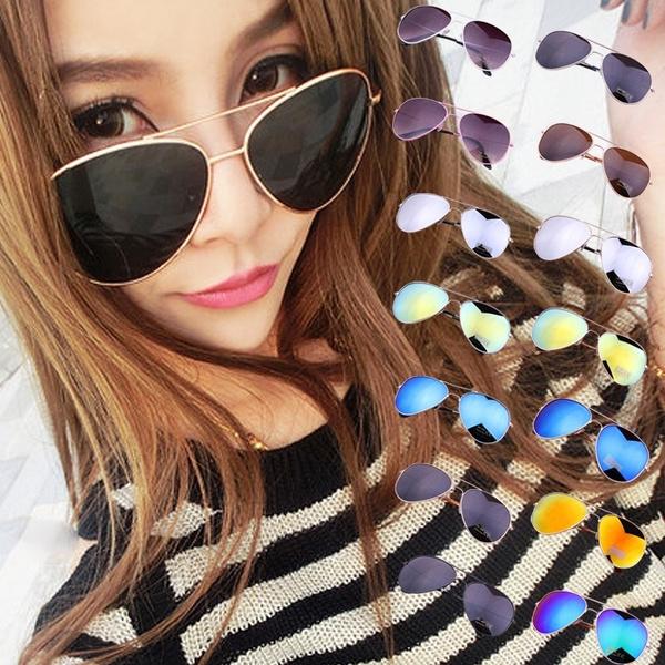 Picture of Sunglasses Goggle Aviator Metal Eyewear Bat Mirror Uv Protection