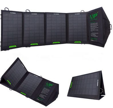 Picture of Now Fashion Solar Mobile Power Mobile Power Folding Bag Charger Size 1 Color Black
