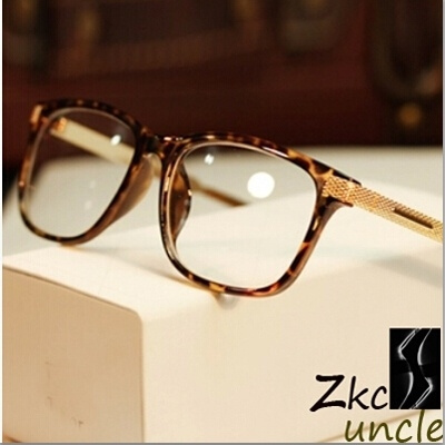 Picture of Classic Metal Brand Optical Frame Glasses Gold Eye Glasses For Men Black Brown Leopard Glasses