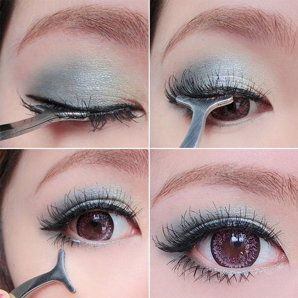 Fashion Makeup Auxiliary Beauty Tool False Eyelash Fake Eye Lash Stainless Clip