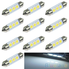 5X 36mm 3 SMD 5050 LED Pure White Car Festoon Map Interior Dome Light 12V
